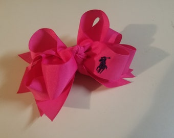 Hair Bows, Boutique Hairbow, Polo, Stacked Hairbow