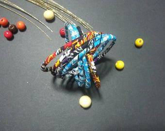 wax prints/ Bangles / African bracelets / African gift