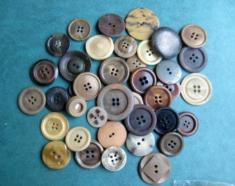 Brown suit buttons | Etsy