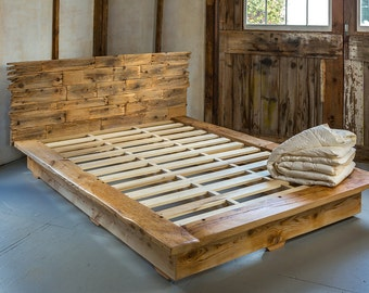 Queen Size Platform Bed Frame & Headboard