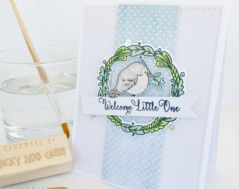 Handmade Baby Card - Baby Boy