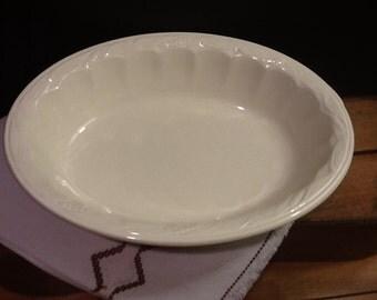 Antique or Vintage Royal Staffordshire Burslem England Ironstone Wilkinson Ltd Ivory Wheat Pattern Serving Dish Bowl