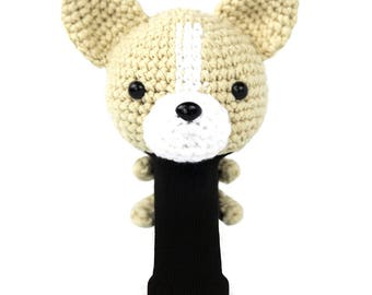 Hand Stitched Yarn Animal Driver/Wood Golf Head Cover - Chihuahua