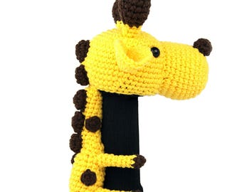 Hand Stitched Yarn Animal Driver/Wood Golf Head Cover - Giraffe