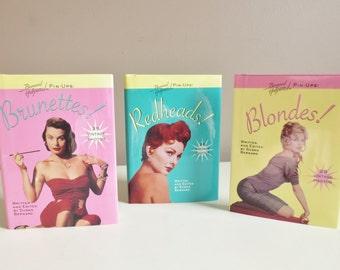 Bernard of Hollywood Books, Blondes Brunettes Redheads Bernard Pin-Ups Set of 3 Vintage Books, Pin Up Photography, Pin-Up Girls, Rockabilly