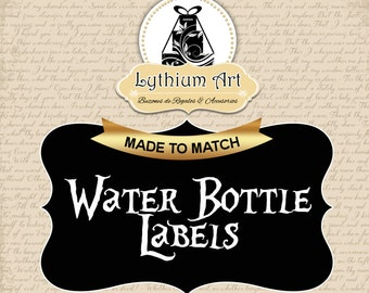 Water Bottle Labels Design - Add Matching Water Bottle Labels