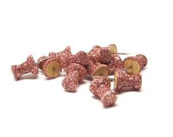 Push Pins, Rose Gold Glitter Push Pins, Push Pin, Rose Gold Decor, Rose Gold Accessories, Rose Gold Wedding Stationery, Desk Accessories
