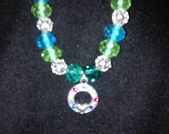 Irish Charm Silver Bead Bracelet