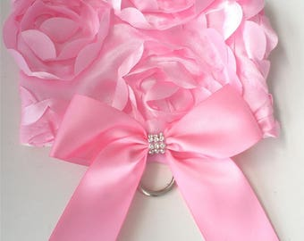 Pet Dog Apparel Clothing Clothes Pink Satin 3D Rose  Harness Vest XXS-L