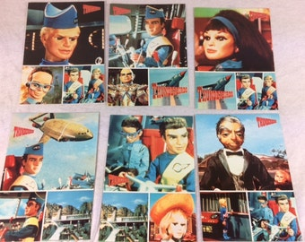 Thunderbirds Postcards Set of 6 - Vintage Thunderbirds