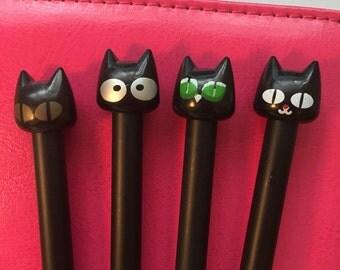 Kawaii Black Cat Pens