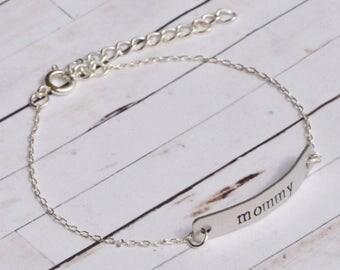 Mom bracelet, mommy and me, hand stamped bracelet, mama bear, mom life, custom bracelet, personalized bracelet, Mother's Day gift