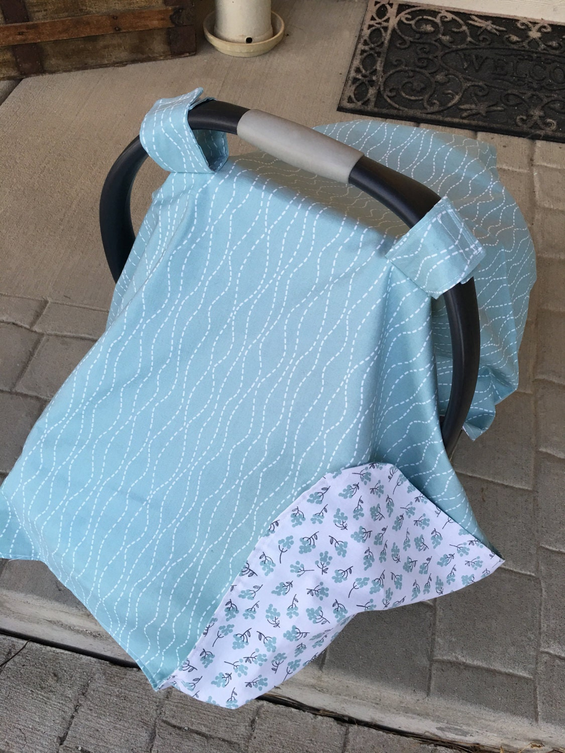 Baby Car Seat Cover - Baby Car Seat Canopy - Baby Shower Gift