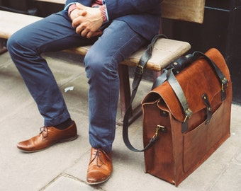 Large Leather Tote Bag, Men's Leather Duffel, Handmade Weekender Bag, Travel Overnight bag, Daytripper, Handbag, Holdall, Men's Fashion, Hip
