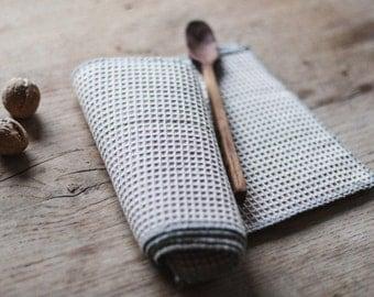 Linges à vaisselle lin gaufre / torchons de cuisine / ensemble de toiles 4 / réutilisables / serviettes Unpaper / sans papier serviettes