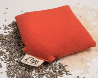 sobasama_rice wrist pillow /w lavender_5x5_brust orange FREE SHIPPING
