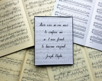 Composer Quote Art Print // Joseph Haydn Quote Art Print // Musical Art // Music Teacher Art // Practice Room, Music Room Art // Music Gift