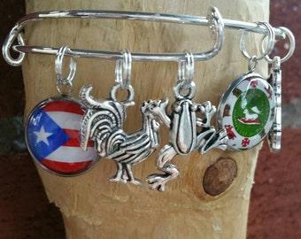 Puerto Rico charm bracelet