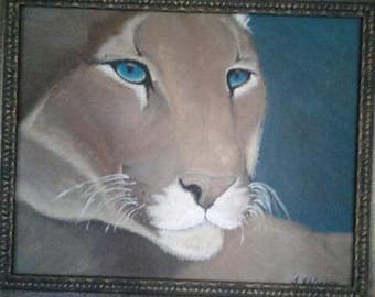 Hand Painted Puma in Oil