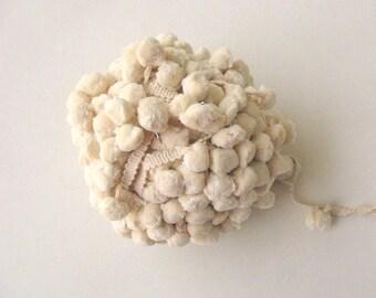 Big Pompom Trim Dyeable Cotton Pompom Trim Ecru Pom-poms Trim Decorative Trim by 5 yards