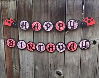 Ladybug Banner, Ladybug Birthday