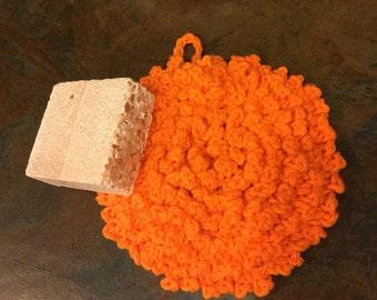 Washcloth crocheted Bath scrubbie, Dishcloth Crocheted scrubbies ,Bath time crocheted wash cloth , Facial crocheted wash cloth, Spa scrubbi