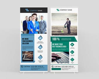 RollUp Banner | Corporate Rollup banner | InDesign and Illustrator Template