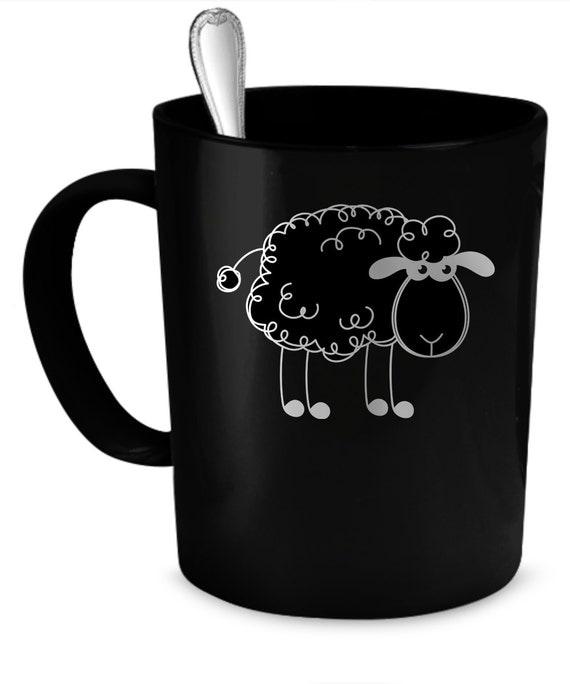 schwarze schafe kaffee becher 11 unzen perfekte geschenk f r. Black Bedroom Furniture Sets. Home Design Ideas