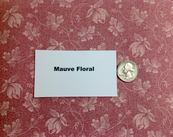 Mauve Floral Fabric - 2 Yards