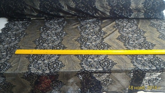 New Black and gold embroidery fabric stage performances 51'' fashion dress fabric sales by the yard