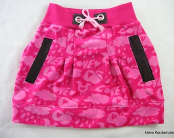 Skirt, skirt, Sweatrock, Gr. 104/110, cool stuff, pink