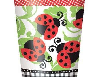 Lively Ladybugs Paper Cups 8ct