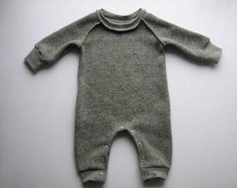 Baby jumpsuit 62-68 knit Heather grey one piece romper jumpsuit