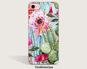 Cactus iPhone 7 Case, Clear Cactus iPhone 6s Plus Case, Clear iPhone Case iPhone Case Clear Samsung Galaxy S7 Edge Case, Gift for her