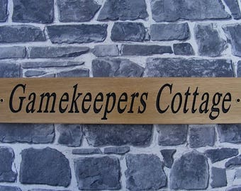 Wooden House Name signs/Large Solid Oak Personalised  Engraved Outdoor Plaques/Housewarming Gift