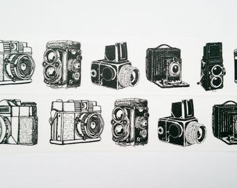 Washi tape black white camera