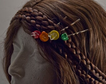 Glass Hairpins
