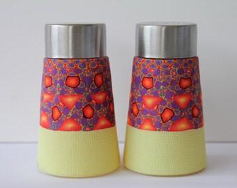OOAK salt and pepper shaker -covered Polymer clay  - Housewarming gift idea