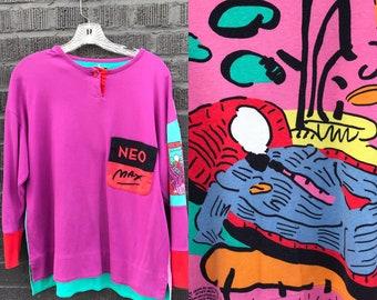 Peter Max Neo Max Signature Series 1989 Shirt Medium