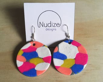 "Handmade statement dangle earrings // gifts for her // ""Mixer"""