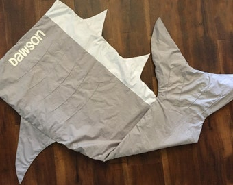 Personalized Shark Tail Blanket