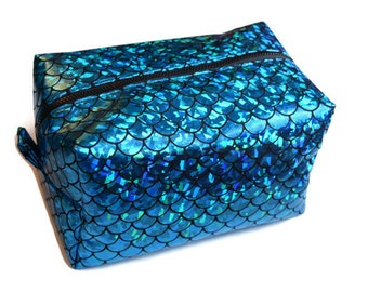 mermaid makeup bag. blue mermaid makeup bag - scale pencil case cosmetics p
