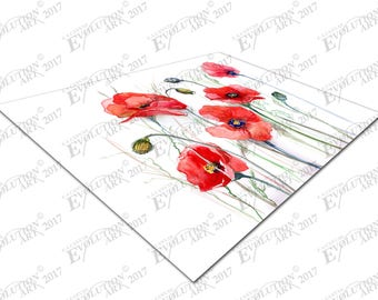 Print on Canvas Watercolor Poppies X1369