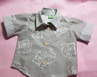 Teddy Bears Picnic baby shirt 3-6, 6-12, 12-18 and 18-24months