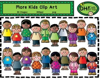 More Kids Clip Art - Kids Art - Digital Clipart - Instant Download