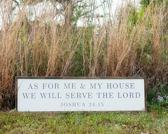 As For Me & My House We Will Serve the Lord Rustic Wood Sign