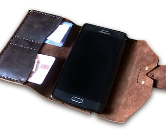 Handmade Leather Phone Case - CUSTOMISED with your design