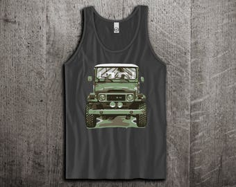 Land Cruiser Tank Top, Jeep t shirts, Land Cruiser shirts, Jeep tanks, Toyota classic shirts, Truck t shirts, Unisex Tank Tops Motomotiveink