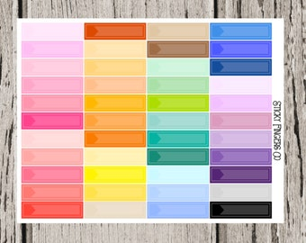 Multicolor Flag Blank Little Things : Functional Planner Stickers for the Erin Condren Life Planner