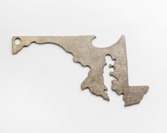 Maryland Shaped Bottle Opener Keychain
